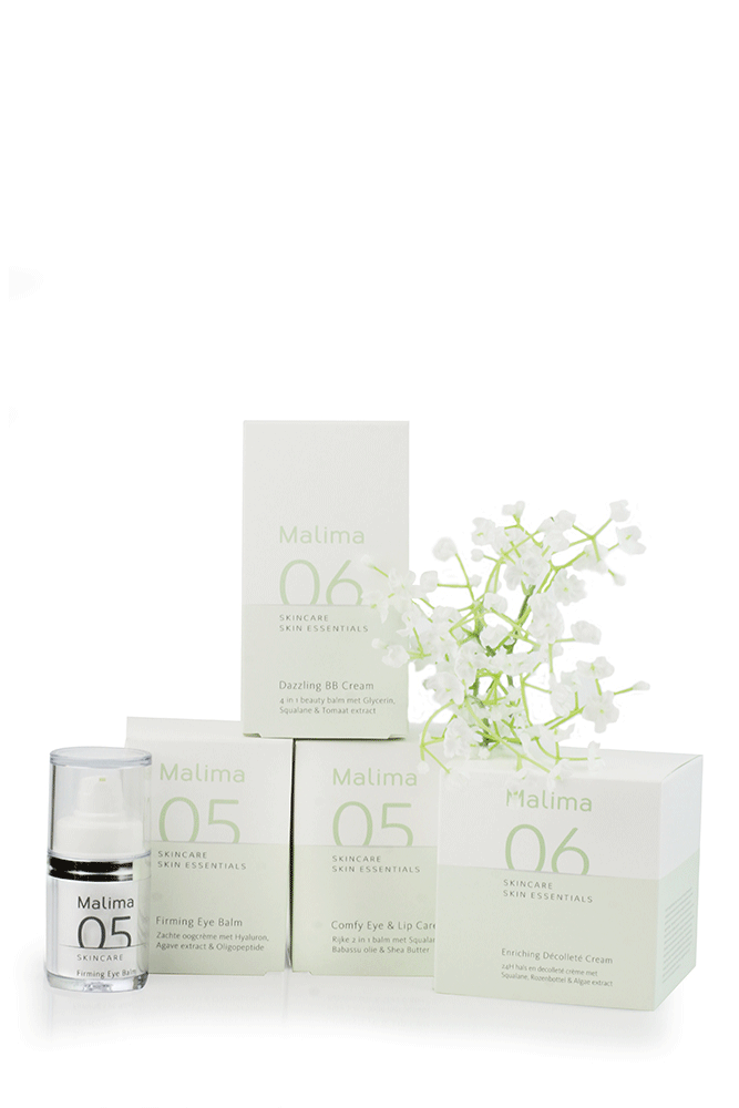 Malima skincare verkrijgbaar Mirelle Beauty & Health